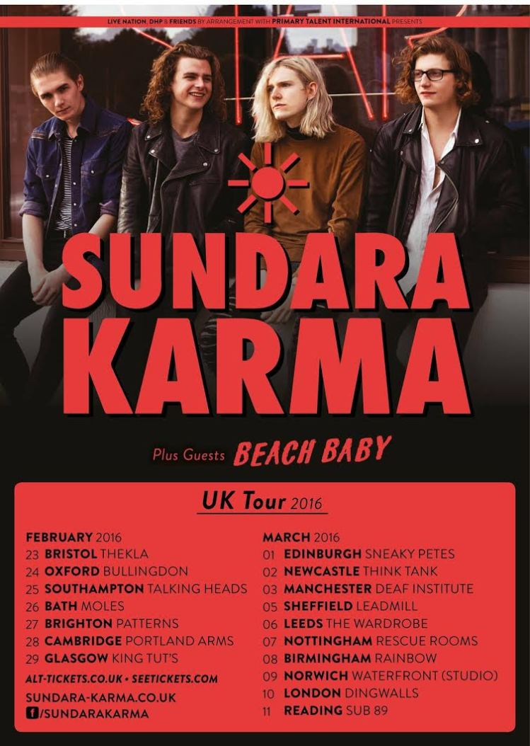 Sundara Karma UK Tour Dates